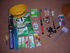 上海に持っていった釣り道具